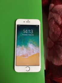 iPhone 6 16GB Gold and White mint condition