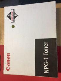 Canon NPG-1 Toner black 4 toners in box brand new original and sealed