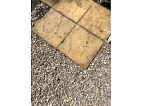 12 yellow tone stone patio paving slabs