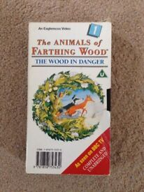 Animals of Farthing Wood - The Wood In Danger (No. 1) VHS