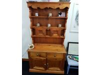 Pine kitchen dresser 4 doors 2 drawer