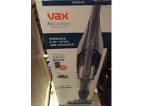 Vax Air Cordless switch extra 2 in 1 handheld stick vacuum, BNIB, Vax price £199.99, half price !
