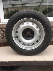 New tyre and wheel