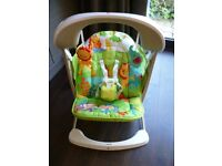 Fisher Price Rainforest Friends Take Along Swing & Seat - Very Good Condition