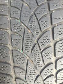 Audi alloys on winter grips