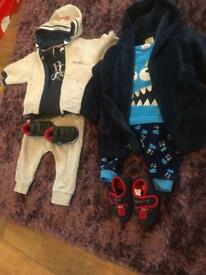 Hugo boss set with Nike trainers, and monster pyjamas with dressing gown and monster slippers
