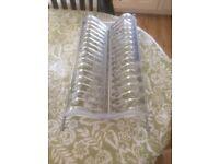 unused plate rack
