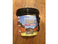 6 Litres of ''slate'' Fence Paint- New unopened tub- £10