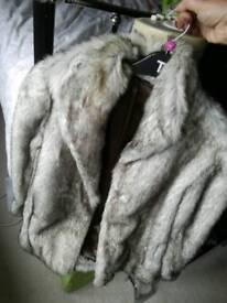 Ladies faux fur retro jacket