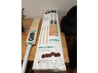 Brand new GM S1X6 crickets set boxed with extra bat