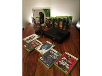 Xbox 360 Slim 250gb + 11 games Boxed