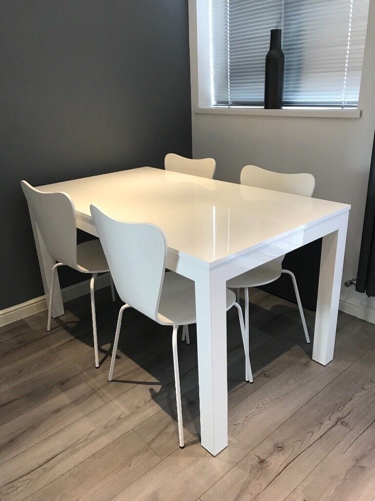 High Gloss Kitchen Table and Chairs   in Durham, County ...