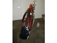Set of Men's Golf Clubs, Bag and Trolley