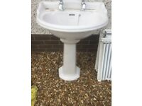 Traditional Style Basin and pedestal