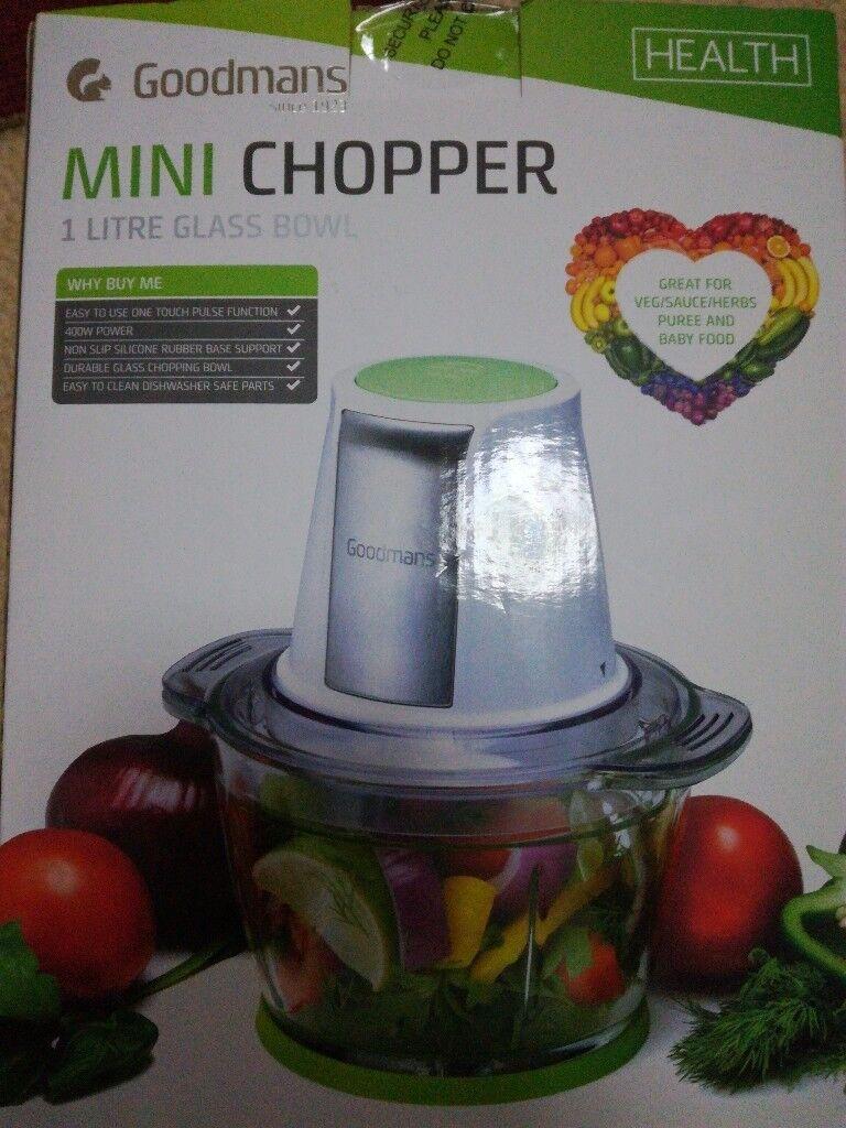Mini Chopper with 1 little Glass Bowl