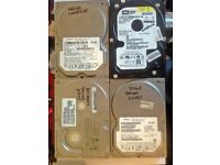 4 X HARD DRIVES TESTED AND WORKING