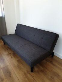 URGENT: Charcoal Sofa bed