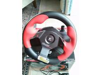 Logitech Wingman Formula Force GP steering wheel & pedals (Force FeedbacK) for PC & PS