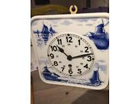 Vintage Antique Delft 8 day clock