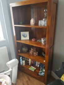 For sale wood book case.. immaculate condition cost 350 will take 150