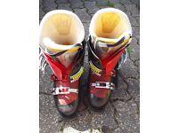 Slick ski boots
