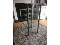 Tall glass 6 tier hi fi stand
