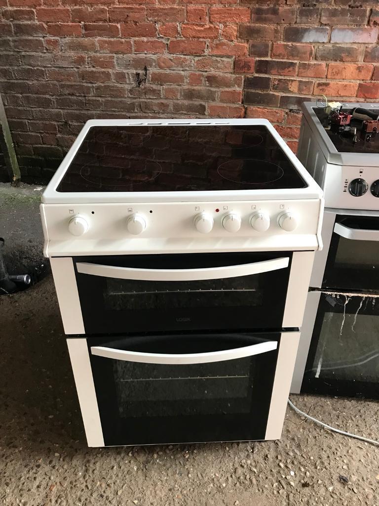 White logik ceramic halogen electric cooker 60cm