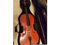Cello - Nearly new 3/4 sized, perfect student instrument with plenty of extras!