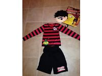 Dennis the Menace Costume, age 7-8, WORLD BOOK DAY