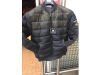 Stone island jacket half camo and half black new