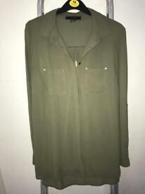 Khaki blouse size 14, worn once