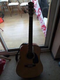 Top of the range fender acoustic guitar