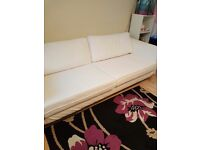 Ikea white sofa for sale in west drayton