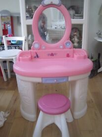 Child's Dressing Table with stool