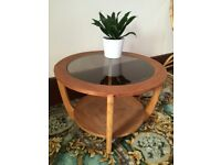 Mid century retro teak and glass coffee table