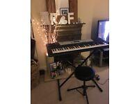 Yamaha Keyboard with stand and stool