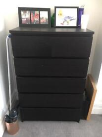 Black IKEA chest of drawers