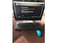 Hp All in One PC AMD dual core 4GB Ram 500GB HDD wifi DVD webcam win 7 office