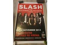 Slash concert poster from outside venue. Genuine 1 of 3