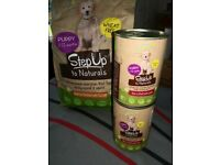 Step up puppy food wet and dry