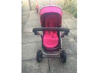 Hot pink Pram/pushchair