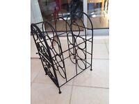 Black heavy duty wine rack - NEW £5 ONLY