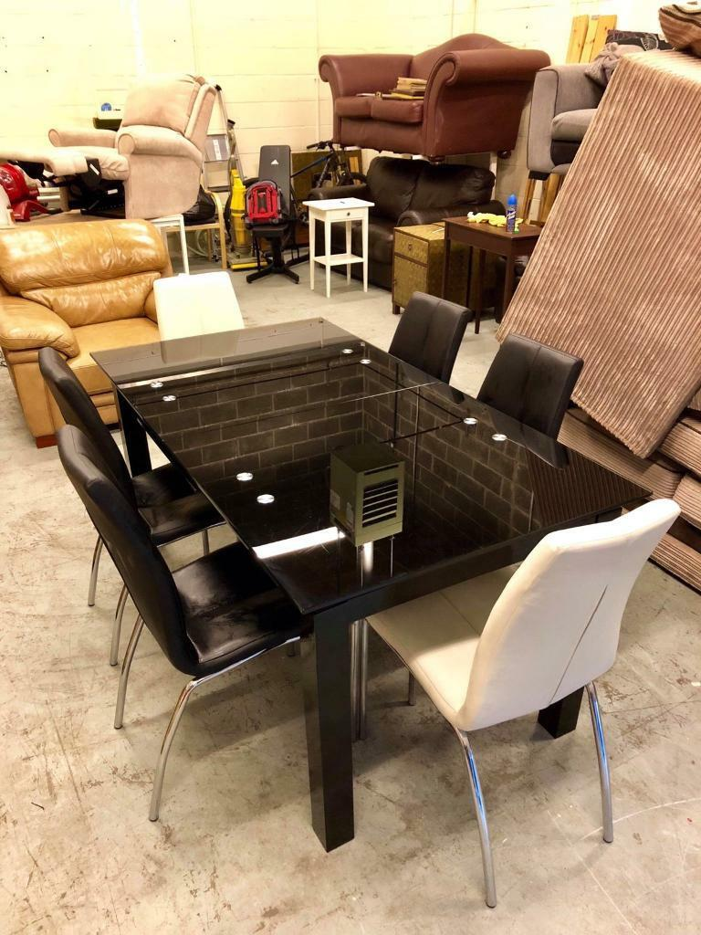 Fenwicks Dining Table 6 Faux Leather Chairs From Next Delivery Available In Gateshead Tyne And Wear Gumtree