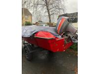 Marina 14 speed boat with trailer and outboard