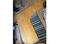 Free Ikea Galant corner desk beech / light wood finish