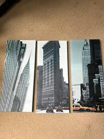 3 piece New York canvas