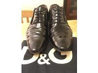 D&G Black Patent Shoe