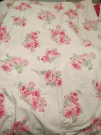 Laura Ashley single cotton sateen duvet set vgc