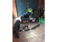 Fishing gear job lot first £75 takes it