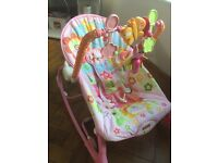 Fisher price vibrating rocker good condition, pet and smoke free home!